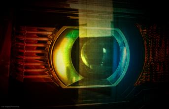 Abstract, truck headlamp