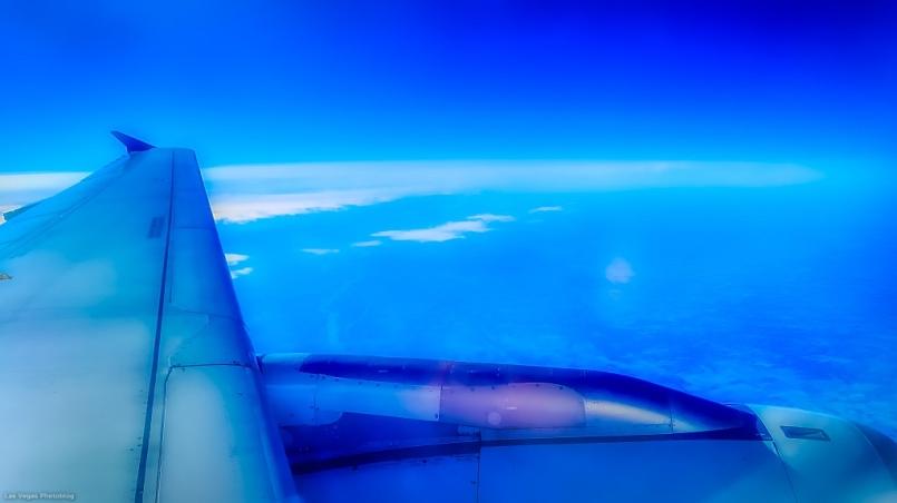 No rain here, justsmooth flight