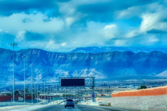 Westbound on the 215 freeway