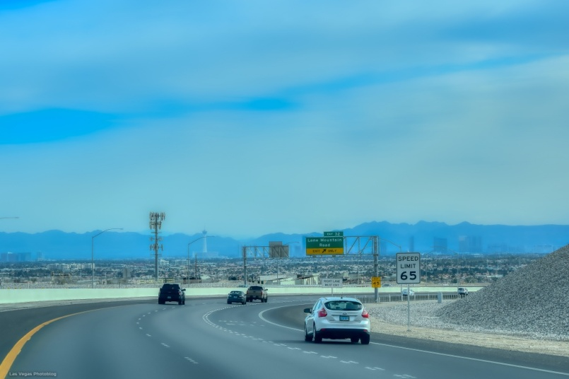 Southbound on the 215 freeway