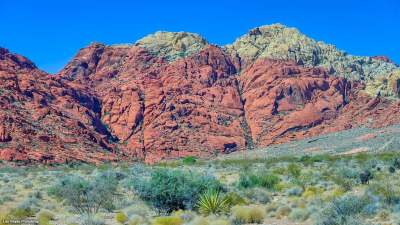 Red rock in Calico Basin
